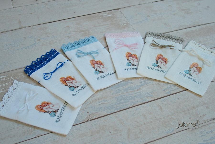 Lininiai maišeliai rožančiui