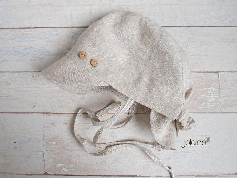 Lininė kepurė berniukui vasarai