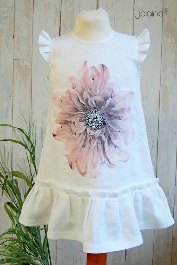 Suknelė krikštynoms su 3D gele