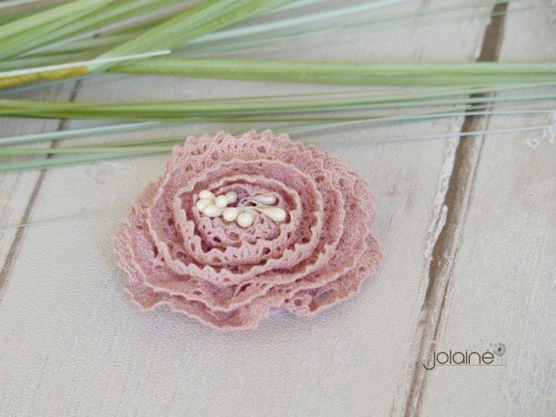 Pelenų rožės spalvos plaukų segtukas