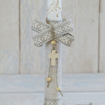 Dekoruota krikšto žvakė