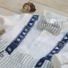 Lininis krikšto kostiumas su šortukais