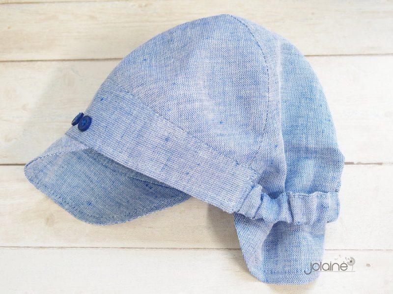 Kepurė berniukui vasarai žydra